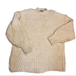 Topshop Cream Chunky Knit Sweater
